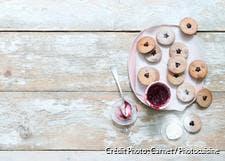 Biscuits linzer vegan à la confiture de cerises