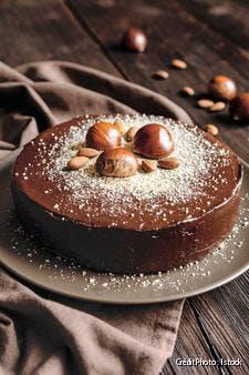Gâteau à la châtaigne au chocolat et aux amandes