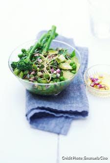 Salade toute verte aux graines de lin