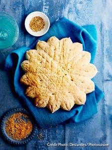 Pain rbati décoré aux graines de sésame et d'anis