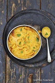 curry de gambas au lait de coco