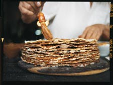 Tableton : millefeuille argentin de crêpes au dulce de leche
