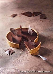 Tarte au chocolat et au grué de cacao
