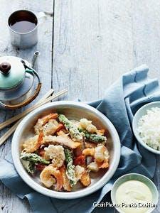 Bol de tempura de la mer