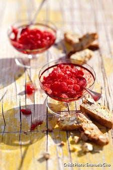 Granité de fraises