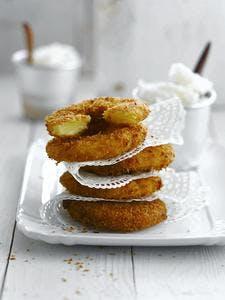 Beignets d'ananas à la noix de coco