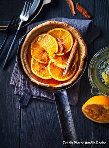 Dutch baby pancake à l'orange cannelle