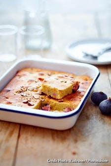 Gâteau fondant à la figue et aux noisettes