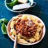 Papardelle à la sauce bolognaise veggie
