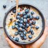 Porridge d'avoine aux myrtilles