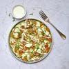 Carpaccio de saumon et courgettes, sauce au yaourt et aneth