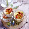Clafoutis aux abricots rôtis et groseilles