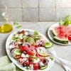 Salade de pastèque et concombre à la menthe