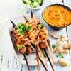 Brochettes de poulet sauce satay