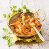Wok de crevettes au curry et lait de coco