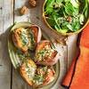 Patates douces rôties au four au bleu et aux noix