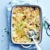 Gratin de pommes de terre, saumon et épinards à l'aneth