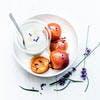 Abricots rôtis à la lavande et faisselle de brebis