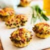 Mini-tortillas façon piperade aux légumes et tomme basque