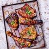 Pilon et haut de cuisse de poulet grillés, marinade épicée au soja
