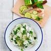 Salade de concombre au yaourt, menthe et ail